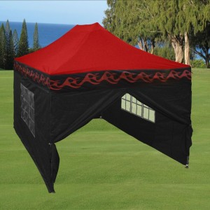 10 x 15 Flame Pop Up Tent Red