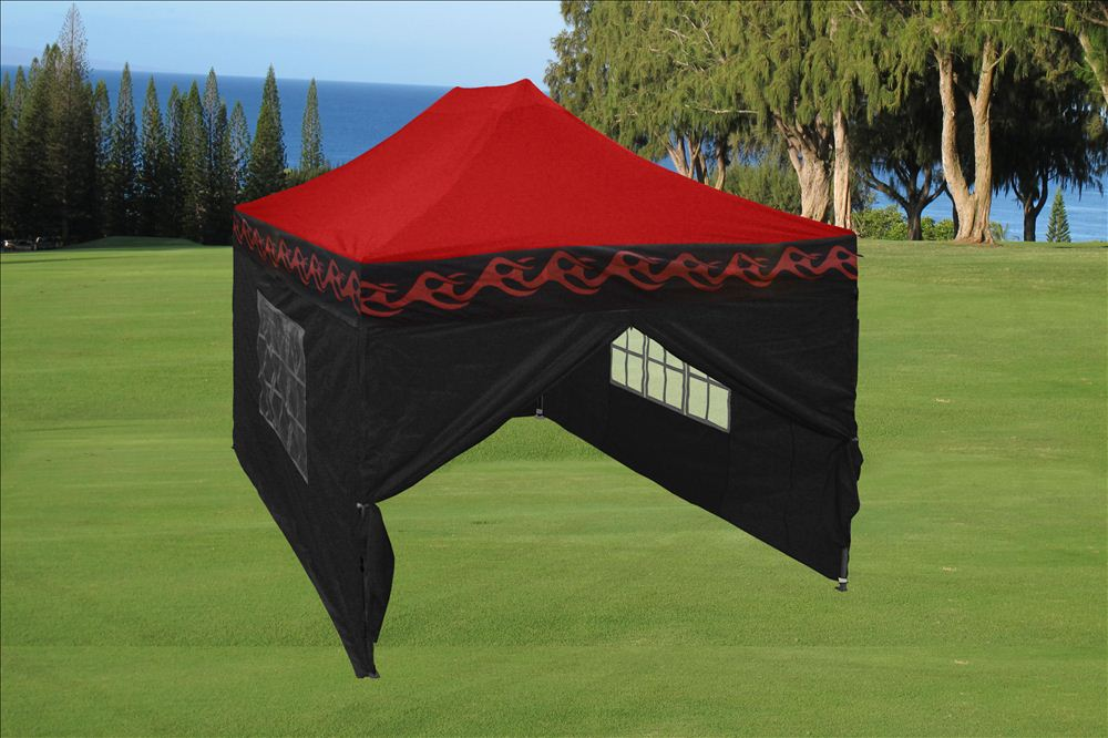 10 X 15 Flame Pop Up Tent Canopy 4 Colors
