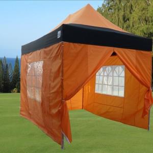 10 x 15 Orange & Black Pop Up Tent Orange