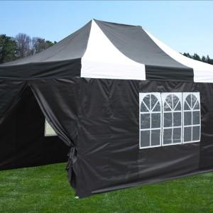 10 x 15 White & Black Pop Up Tent White