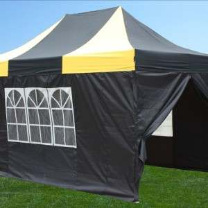 10 x 15 Yellow & Black Pop Up Tent Yellow