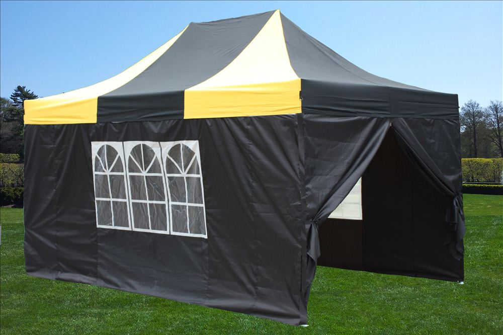 10 X 15 Striped Pop Up Tent 6 Colors
