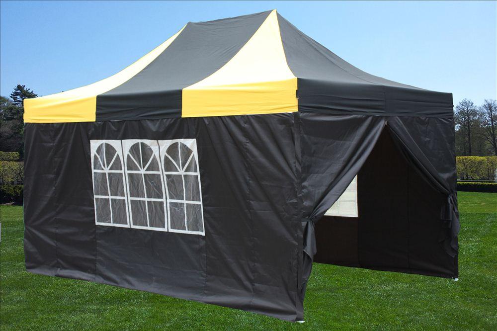 10 X 15 Striped Pop Up Tent 6 Colors