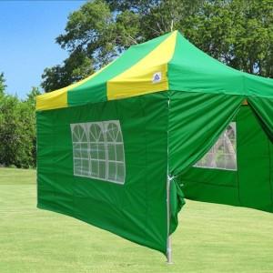 10 x 15 Green & Yellow Pop Up Tent
