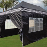 10 x 20 Black Checker Pop Up Tent