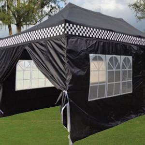 10 x 20 Black Checker Pop Up Tent