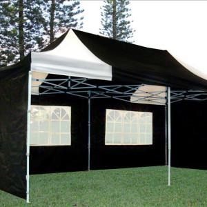10 x 20 Black & White Pop Up Tent 2