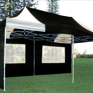 10 x 20 Black & White Pop Up Tent 3
