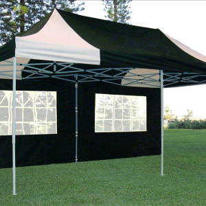 10 x 20 Black & White Pop Up Tent 4