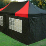 10 x 20 Black and Red Pop Up Tent