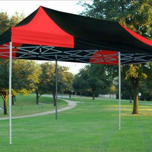 10 x 20 Black and Red Pop Up Tent 4
