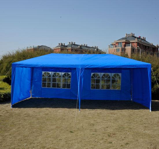 10 x 20 blue gazebo party tent canopy. Black Bedroom Furniture Sets. Home Design Ideas