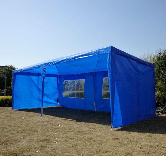 10 x 20 Blue Party Tent Gazebo Canopy - 4 Sidewalls
