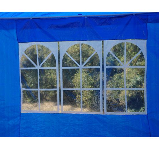 10 X 20 Blue Party Tent Gazebo Canopy 4 Sidewalls