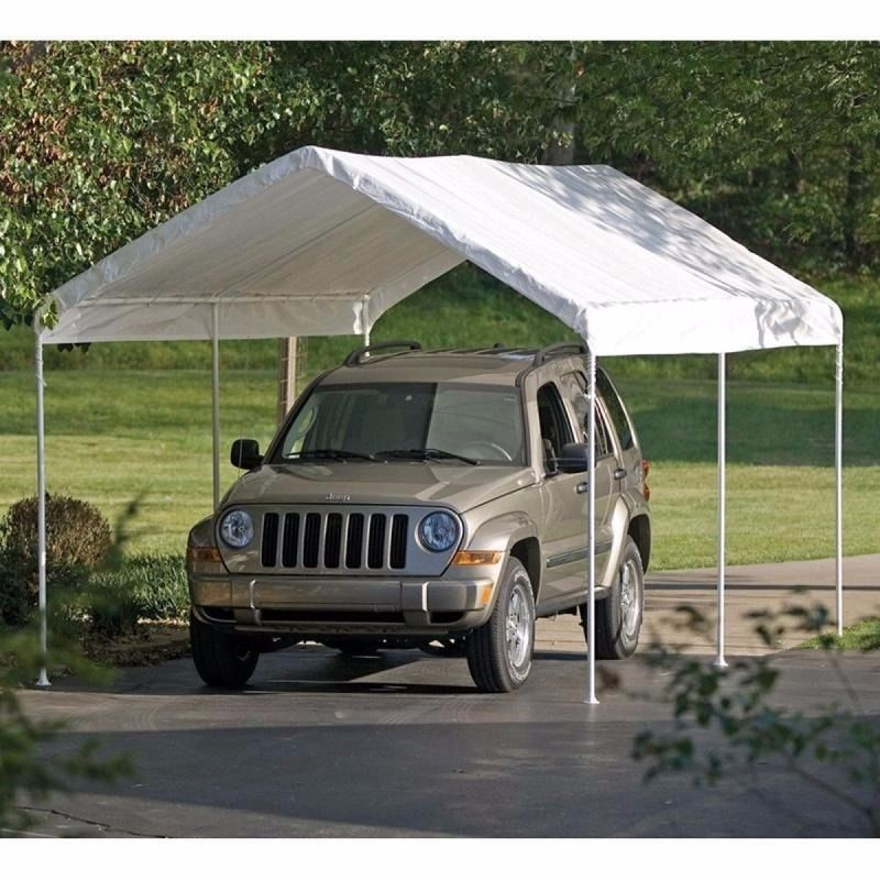 Deep 2 Car Carport : Caravan carport shelter