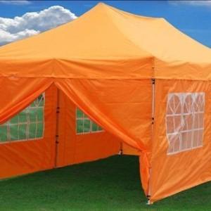 10 x 20 Orange Pop Up Tent Canopy Gazebo