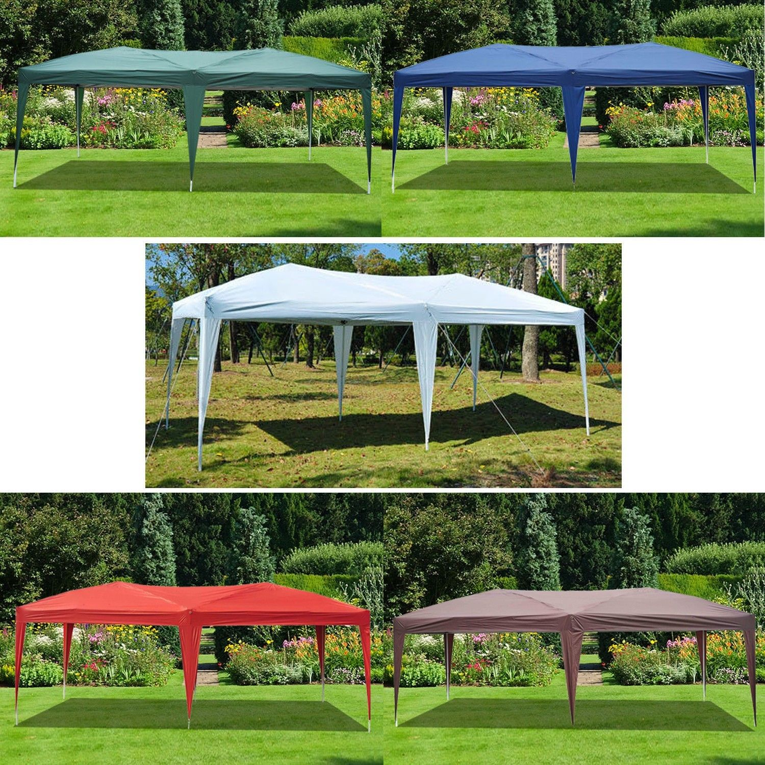 10 x 20 Pop Up Canopy Gazebo Main Image & 10 x 20 Pop Up Canopy Gazebo - 5 Colors -