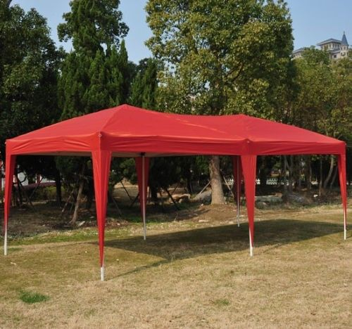 10 x 20 Pop Up Canopy Gazebo Red & 10 x 20 Pop Up Canopy Gazebo - 5 Colors -