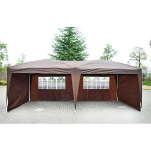 10 x 20 Pop Up Tent 4 Wall Coffee