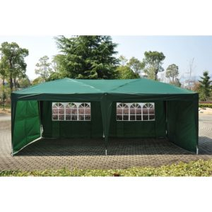 10 x 20 Pop Up Tent 4 Wall Green