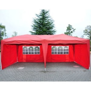 10 x 20 Pop Up Tent 4 Wall Red