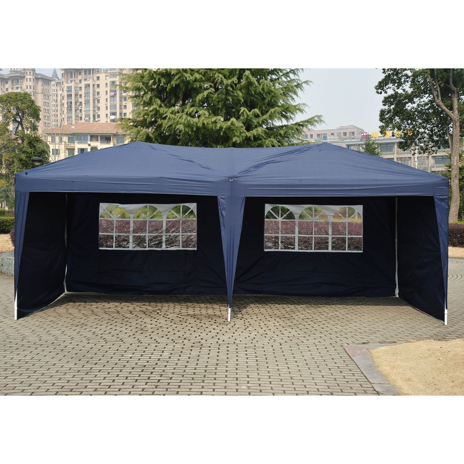 Ez Up Canopy 10x20 >> 10 X 20 Pop Up Tent Canopy W 4 Sidewalls 5 Colors