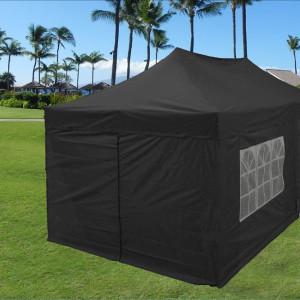 10 x 20 Black Pop Up Tent Canopy Gazebo 2