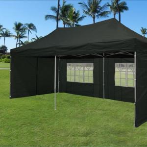 10 x 20 Black Pop Up Tent Canopy Gazebo