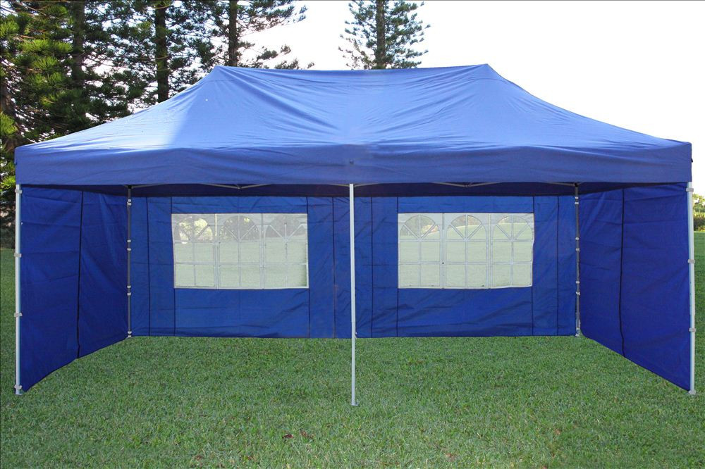 10 X 20 Pop Up Tent Canopy Gazebo W/ 6 Sidewalls