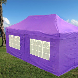 10 x 20 Purple Pop Up Tent Canopy Gazebo
