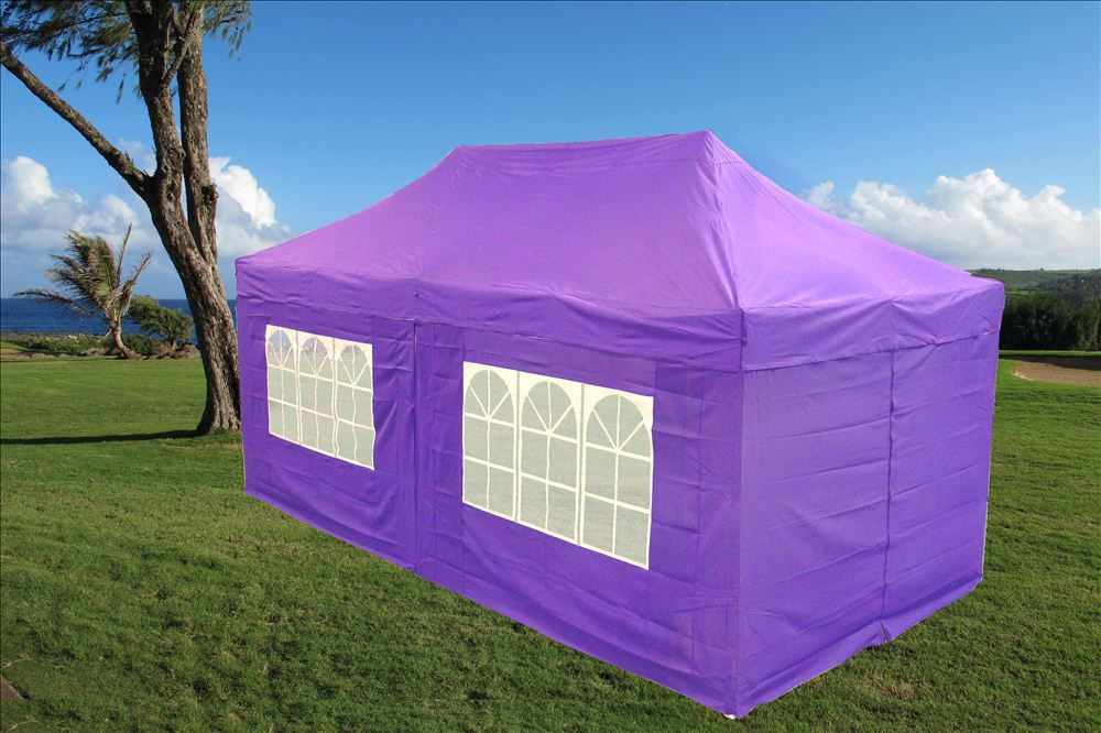 10 x 20 Purple Pop Up Tent Canopy Gazebo : 10x20 canopy side walls - memphite.com