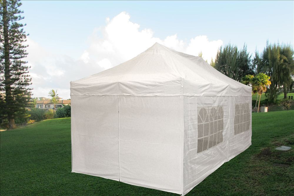 10 x 20 Pop Up Tent Canopy Gazebo w/ 6 Sidewalls - 9 Colors -