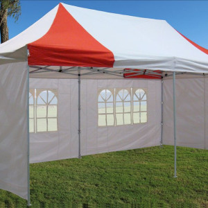 10 x 20 Red and White Pop Up Tent 2