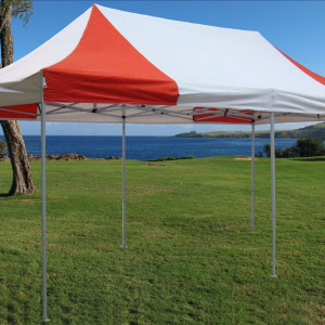 10 x 20 Red and White Pop Up Tent 3
