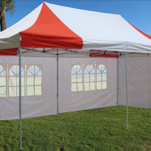 10 x 20 Red and White Pop Up Tent 4