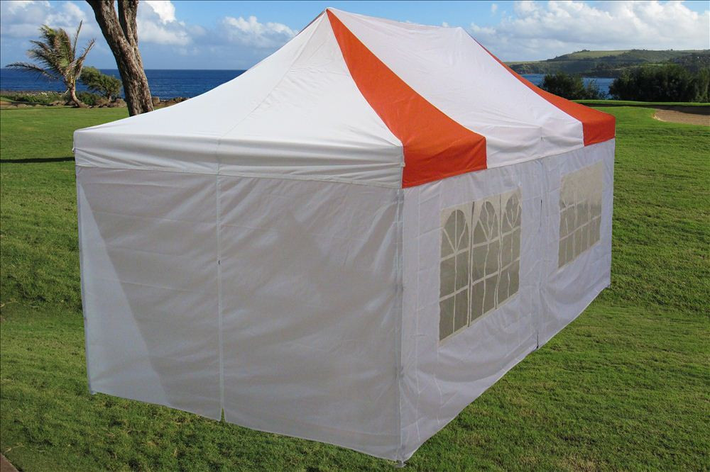 10 X 20 Red And White Pop Up Tent Canopy Gazebo