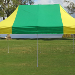 10 x 20 Yellow and Green Pop Up Tent 2
