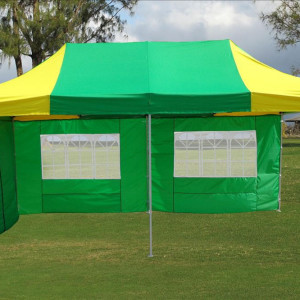 10 x 20 Yellow and Green Pop Up Tent 3