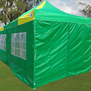10 x 20 Yellow and Green Pop Up Tent 4