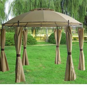 11 x 11 Tan Gazebo Canopy 2