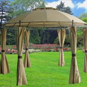 11 x 11 Tan Gazebo Canopy