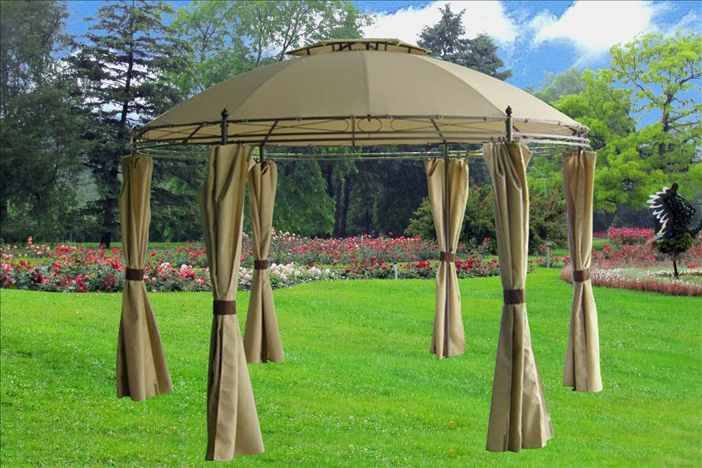 11 X 11 Tan Gazebo Canopy