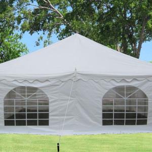 20 x 20 White PVC Pole Tent 2