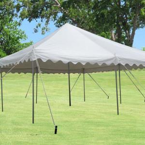 20 x 20 White PVC Pole Tent 3