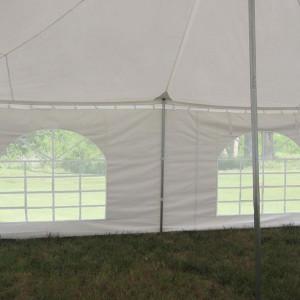20 x 20 White PVC Pole Tent 4