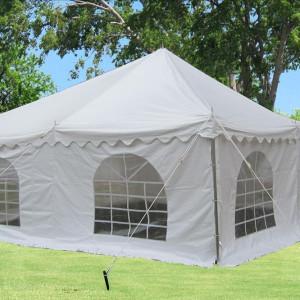 20 x 20 White PVC Pole Tent