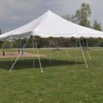 20 x 20 White Pole Tent Canopy