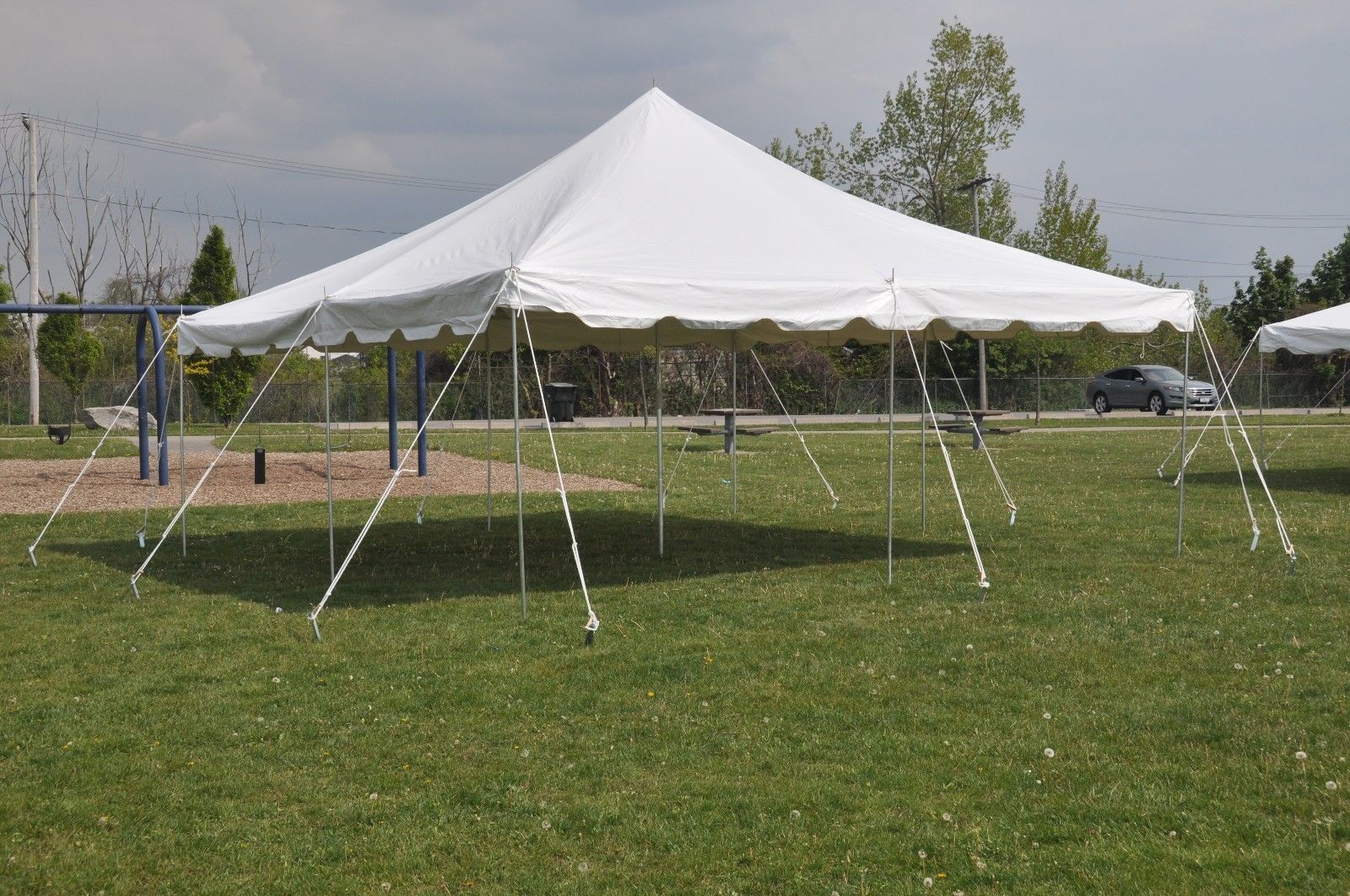 20 x 20 White Pole Tent Canopy & 20 x 20 Commercial Grade Party Tent
