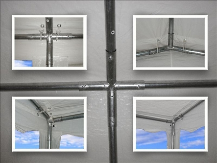 20 x 40 White PVC Party Tent POLES & 20 x 40 White PVC Party Tent Canopy