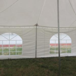 30 x 20 White PVC Pole Tent 1